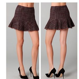 Theory tweed skirt with flounce